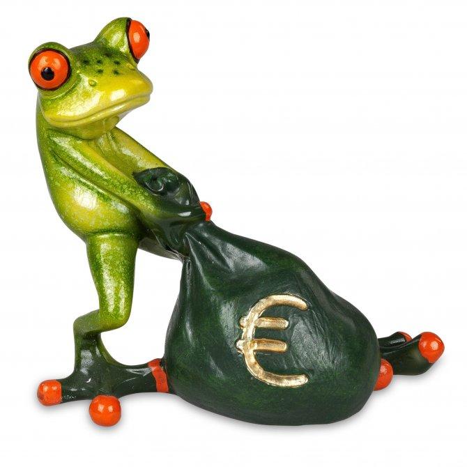 Frosch Money mit Sack