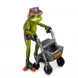 Frosch Oma mit Rollator