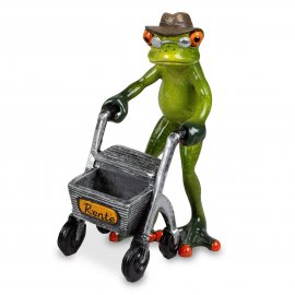 Frosch Opa mit Rollator