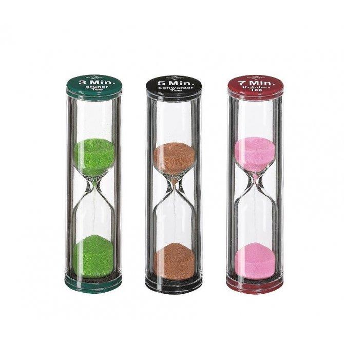 Sanduhr Tea-Time 3er Set