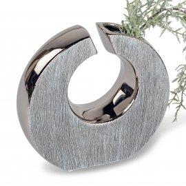 Vase mit Loch 20x19 Nature-Silber
