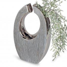 Vase mit Loch 15x25cm Nature-Silber