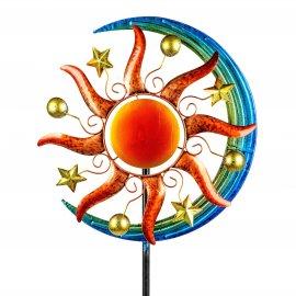 Windrad 44/162cm Metall - Sonne