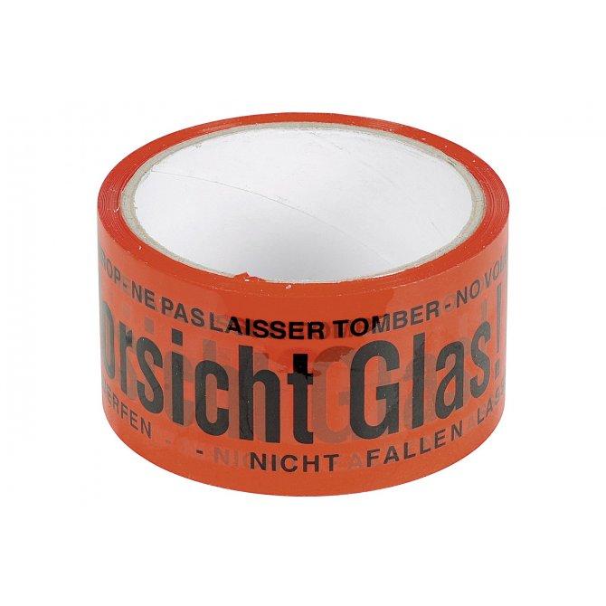 """Klebeband """"Vorsicht Glas"""" 30m/5cm"""