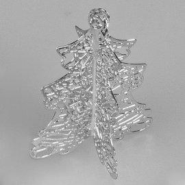 Deko-Tanne 4cm silber Kristall