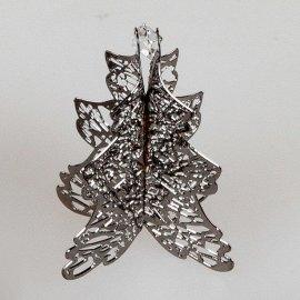 Deko-Tanne 4cm schwarz Kristall