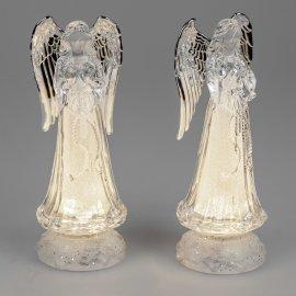Engel drehend 26cm Acryl mit Licht
