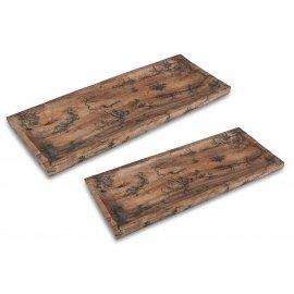 Schale eckig Mango-Holz antik