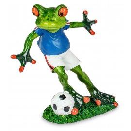 Frosch mit Fußball blau