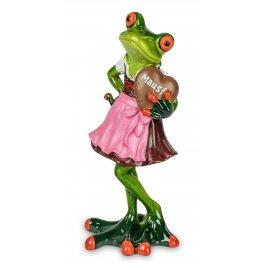 Frosch in Dirndl