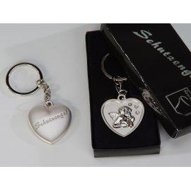 Schlüsselhänger Herz mit Schutzengel