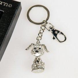 Schlüsselhänger Hund mit Strass