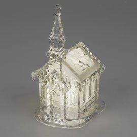 Winterkirche 25cm Acryl mit Licht