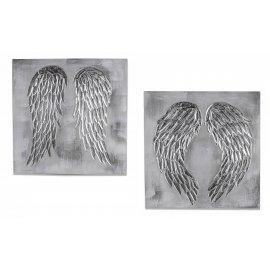 Wandbild Flügel silber 60cm