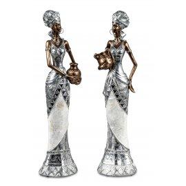 Afrikanische Frau mit Krug 40cm
