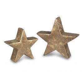 Deko-Stern Antik-Gold