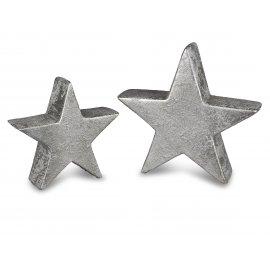Deko-Stern Antik-Silber