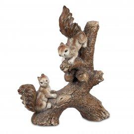 Eichhörnchen auf Ast 48cm Natur-braun