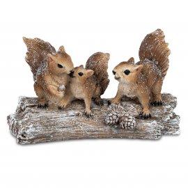 Gruppe Eichhörnchen 3er Winterzeit