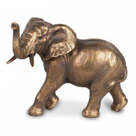 Elefanten 5er 23cm Antik-Gold