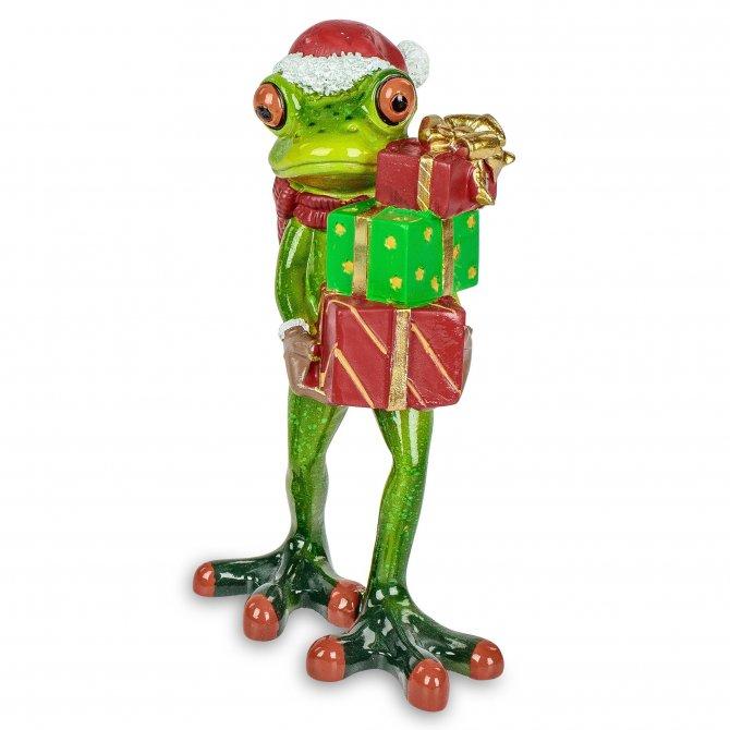 Frosch Weihnachten mit Geschenke