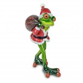 Frosch Weihnachten mit Sack auf Rücken