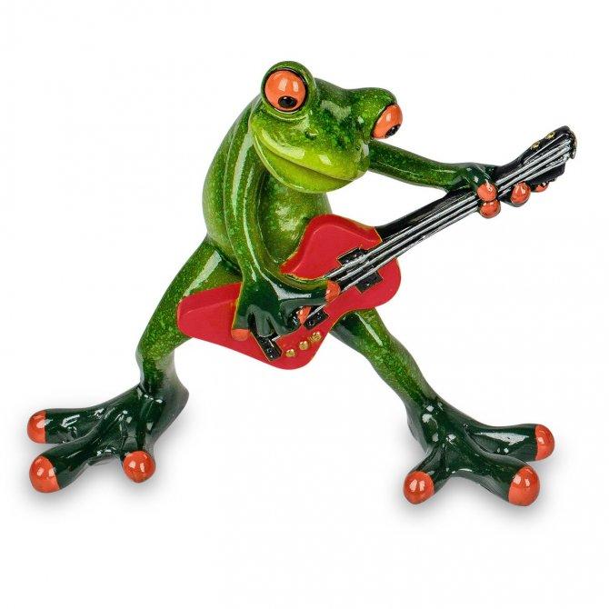 Frosch mit Gitarre