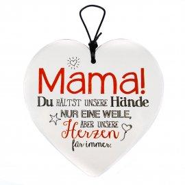Hängeherz 15cm Mama hält unsere Herzen