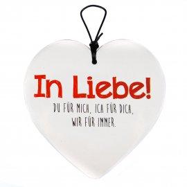 Hängeherz 15cm Liebe