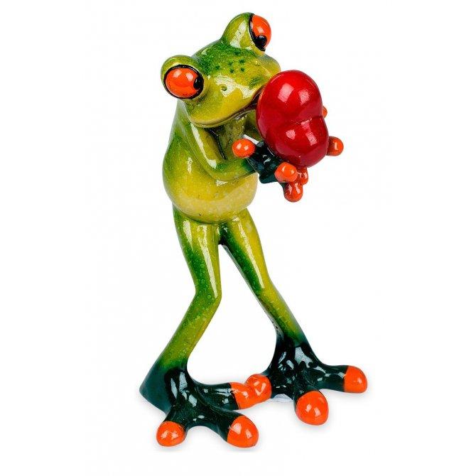 Frosch mit Herz in Händen