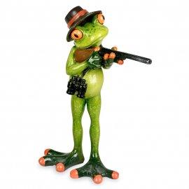 Frosch Jäger stehend
