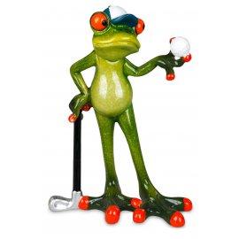 Frosch Mann Golfspieler