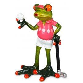 Frosch Frau Golfspielerin