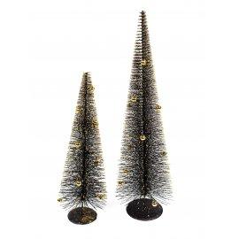 Baum mit Kugeln schwarz-gold