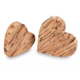 Herz liegend Pfirsich - Holz