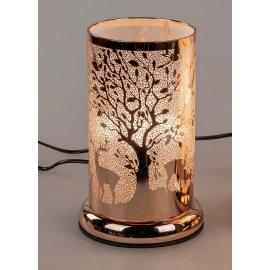 Lampe Baum mit Rehe gold Touch-Bedienung