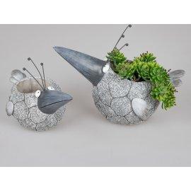 Pflanzgefefäß Vogel Modern-Stone