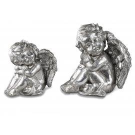 Engel sitzend Vintage-Silber