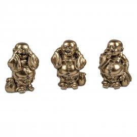 Buddha 11cm Antik-Gold