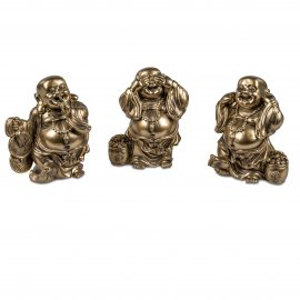 Buddha 15cm Antik-Gold