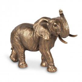 Elefant 20cm Antik-Gold