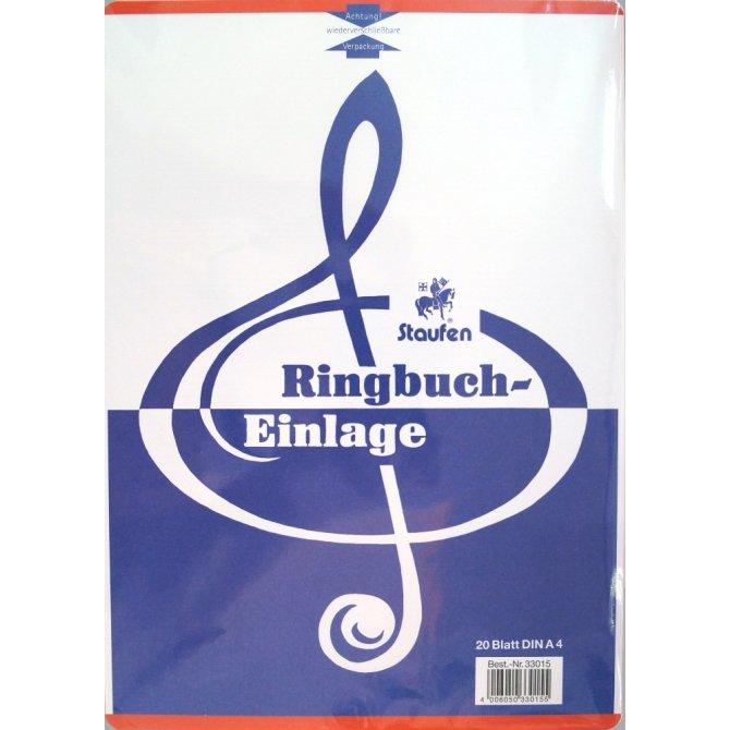 Ringbucheinlagen A4 Noten Staufen