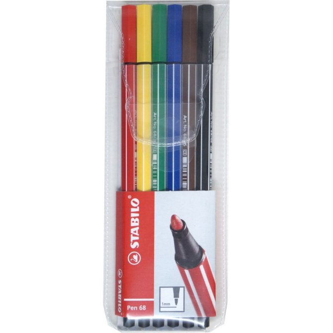 Fasermaler Pen 68 6er
