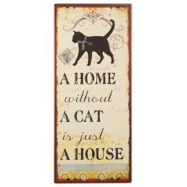 Schild Home Cat