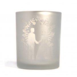 Teelichtglas Hochzeit
