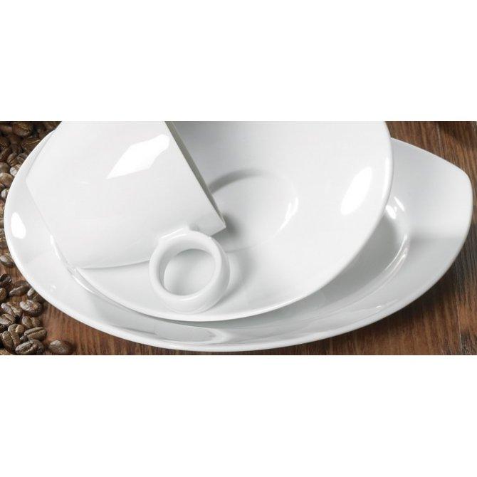 Frühstücksteller eckig Vario Pure weiß