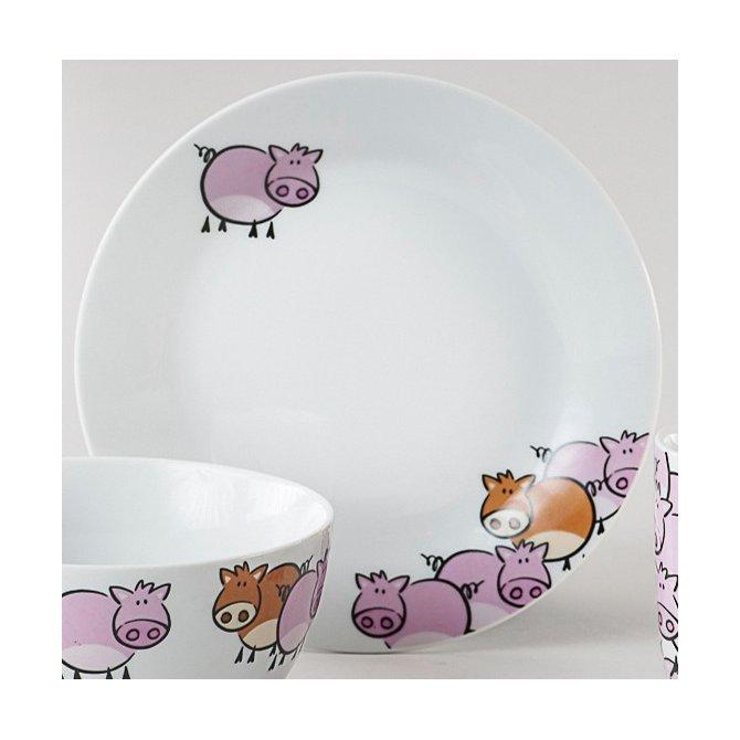 Frühstücksteller Pink Pig