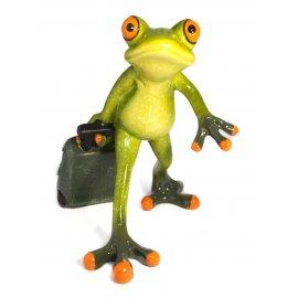 Frosch mit Koffer