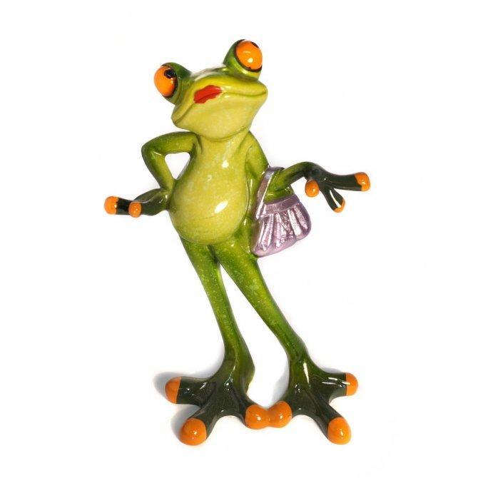 Frosch mit Handtasche