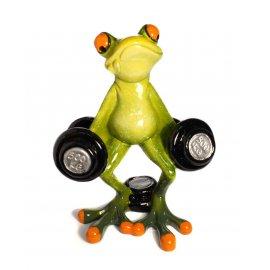 Frosch mit Hanteln